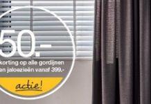 ontvang 50 korting op gordijnen van woonexpress
